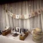 The knot guest book table