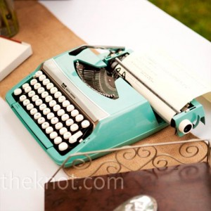 The knot typewriter guest book